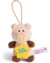 Nici Schwein Gute Fahrt 8 cm mit Loop Message to go