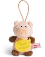 Nici Schwein Ich bringe dir Glück 8 cm mit Loop Message to go