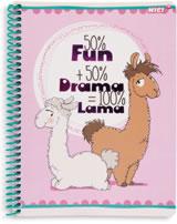 Nici Spiralblock liniert DIN A5 Drama Lama