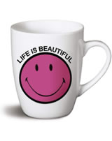 Nici Tasse Smiley pink Life is beautiful