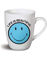 Nici Tasse Smiley blau Life is beautiful