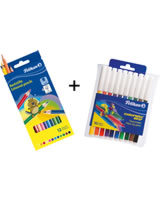 Pelikan SONDERAKTION: 10 Fasermaler Colorella Star und 12 Buntstifte