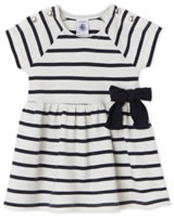 Petit Bateau Maritimes Kleid m. Schleife coquille/smoking 22083-63