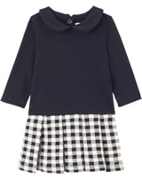 Petit Bateau Kleid mit Bubi-Kragen Langarm blau/weiß smoking/coquille 26174-57