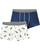 Petit Bateau Jungen-Boxer Shorts 2er Set Pinguin blau/creme 50983-00