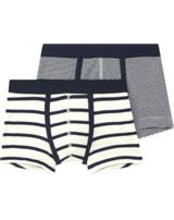 Petit Bateau Jungen-Boxer Shorts 2er Set blau/creme 49014-00