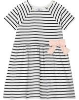 Petit Bateau Baby-Kleid mit Schleife Kurzarm marshmallow/smoking 52838-01