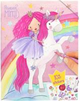 Princess Mimi Malbuch mit Stickern Einhorn