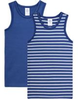 Sanetta 2-er Set Jungen Unterhemd ärmellos STREIFEN true blue 334879-5105