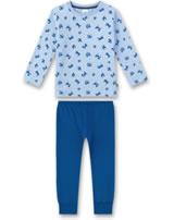 Sanetta Jungen Pyjama/Schlafanzug lang oxford melange 232317-50252