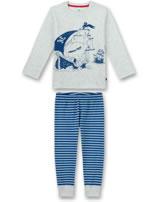 Sanetta Jungen Pyjama/Schlafanzug lang sand melange 232270-1952