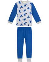 Sanetta Jungen Pyjama/Schlafanzug Langarm DINOS hellgrau/melange 232447-1646