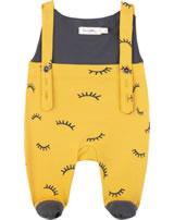 Sanetta Pure Latzhose AUGE yellow 10023-2475 GOTS