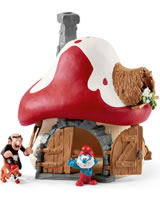 Schleich Smurf house with 2 figures 20803