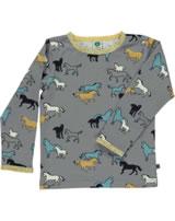 Smafolk T-Shirt Langarm PFERDE wild dove 73-0029-234