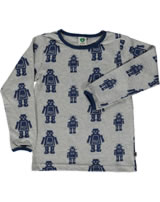 Smafolk T-Shirt Langarm ROBOTER grey mix 71-0013-235
