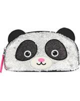 Snukis Kosmetiktasche Panda mit Streichpailletten