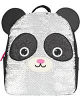 Snukis Rucksack Panda mit Streichpailletten