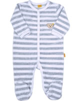 Steiff Romper suit velours BASIC softgrey 0002848-8200