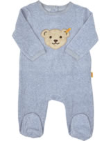 Steiff Romper long sleeve BASIC Teddy softgrey melange 0002892-8200