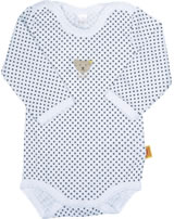 Steiff Langarm-Body BASIC gepunktet Teddy bright white 0008743-1000