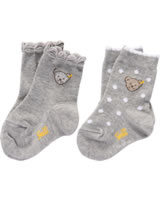 Steiff Socks Set of 2 with Teddy-head quarry 1921913-9007
