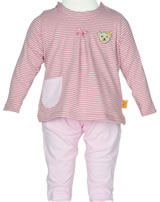 Steiff 2tlg. Set T-Shirt + Jogginghose SHADES OF ROSÈ stripe 6842215-0001