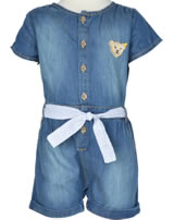 Steiff Jeans Jumpsuit/Overall BE HAPPY extra light blue 6713225-0015