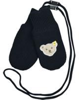 Steiff Baby Gloves BLUE WINTER black iris 1922134-3032