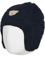 Steiff Baby Jersey-Mütze z. Wenden BLUE WINTER black iris 1922121-3032