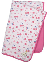 Steiff Babydecke Jersey BEAR AND CHERRY barely pink 2013207-2560