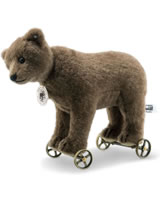 Steiff Bear on wheels 1904 Replica 22 cm alpaca brown 403354