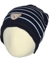 Steiff Bonnet knitted BLUE STRIPE black iris 1922530-3032
