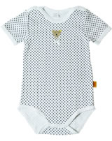 Steiff Kurzarm-Body BASIC gepunktet Teddy bright white 0008733-1000