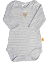 Steiff Baby bodysuit BASIC light gray melange 0008653-2560