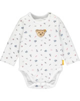 Steiff bodysuit long sleeve BEAR CREW bright white 2012141-1000