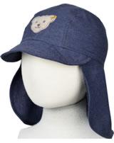 Steiff Denim Mütze mit Schild GO BEAR GO blue indigo 2011408-6050