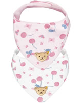 Steiff Neckerchief set of 2 BEAR AND CHERRY barely pink 2013209-2560