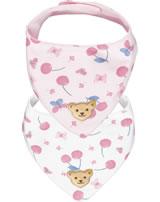 Steiff Dreieckstuch 2er Pack BEAR AND CHERRY barely pink 2013209-2560