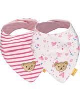 Steiff Dreieckstuch 2er Pack BEAR IN MY HEART cloud dancer 2011110-1001