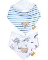 Steiff Dreieckstuch 2er Pack SAFARI BEAR bright white 2013106-1000