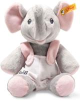 Steiff éléphant Trampili 24 cm gris/rose 241666