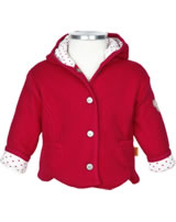 Steiff Fleece-Jacke m. Kapuze LOVELY REDS jester red 6842103-2120
