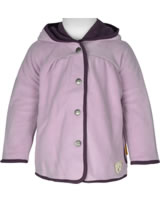 Steiff Jacket Fleece hooded NATURAL BERRY lavender mist 1921218-7020