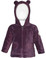 Steiff Fleece-Jacke m. Teddy-Kapuze WILDBERRY hortensia 1921426-7021