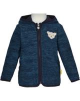 Steiff Jacket fleece GO BEAR GO black iris 2011425-3032