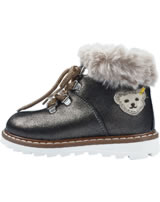 Steff Leather winterboots with fake fur metallic beige
