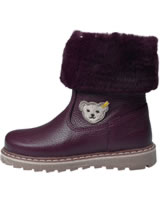 Steff Leather winterboots with fake fur BELLAA bordeaux