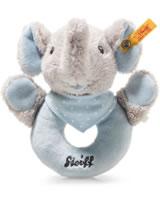 Steiff grip toy elephant Trampili 13 cm grey/blue 241710