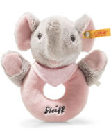 Steiff grip toy elephant Trampili 13 cm grey/pink 241703